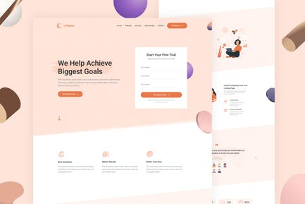 LeSigma - Isometrische Startup-HTML-Landingpage