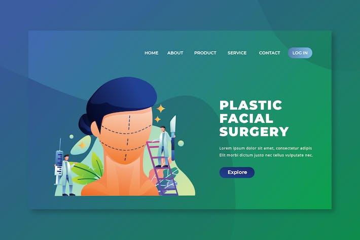 Plastic Facial Surgery - PSD and AI Landing Page