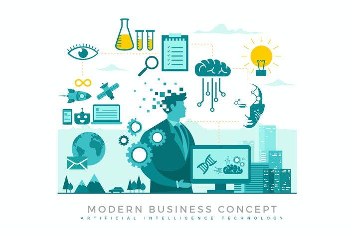 Thumbnail for Artificial Intelligence Modern Business Concept
