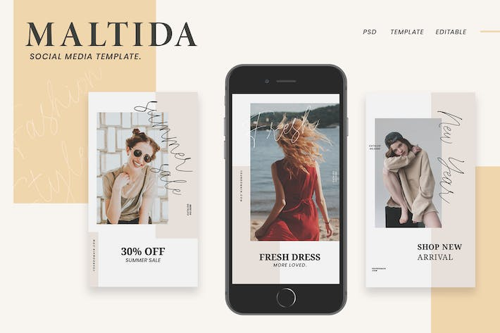 Thumbnail for Maltida Fashion Instagram Stories Template