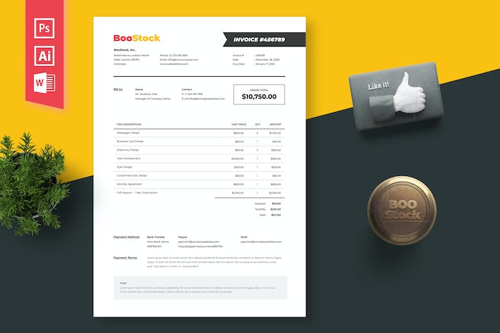 Thumbnail for Invoice Template 05