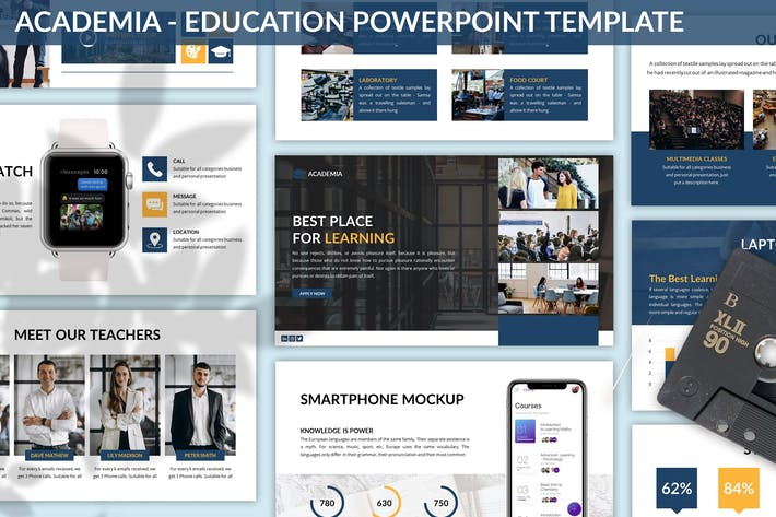 Thumbnail for Academia - Education Powerpoint Template
