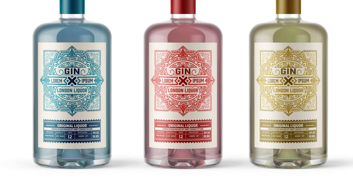 Download Vintage Liquor Label Packaging Layout by roverto007