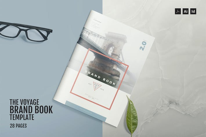 cover image for the voyage brand book template