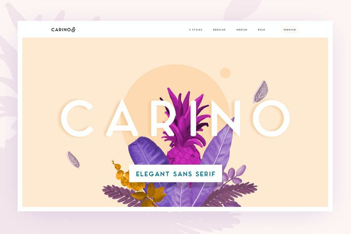 Cover Image For Carino - A Modern Elegant Typeface