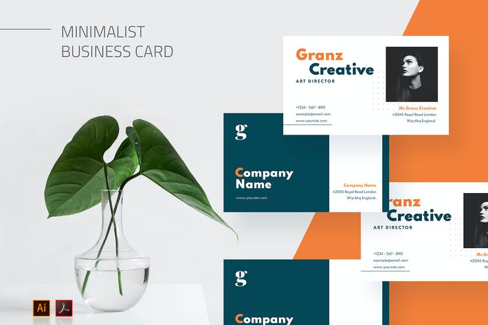 Mytemp - Minimalist Business Card v11