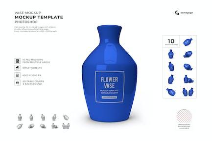 Vase Mockup Vorlagen-Set