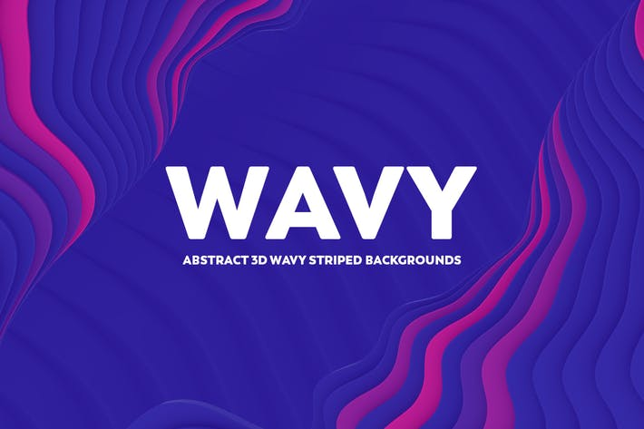 Thumbnail for Abstract 3D Wavy Striped Backgrounds