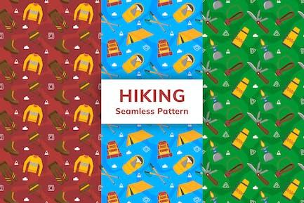 Hiking Seamless Pattern