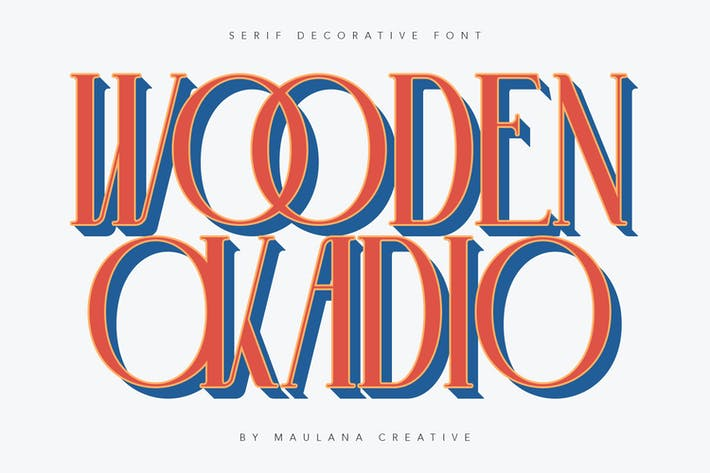 Thumbnail for Fuente decorativa Okadio Con serifa de madera