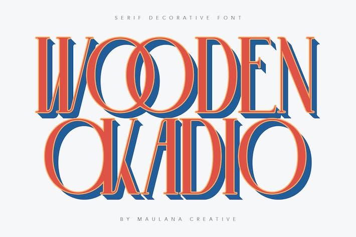 Thumbnail for Wooden Okadio Serif Decorative Font