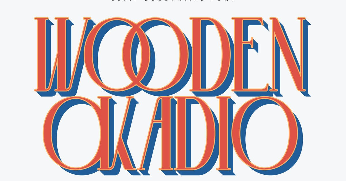 Download Wooden Okadio Serif Decorative Font by maulanacreative