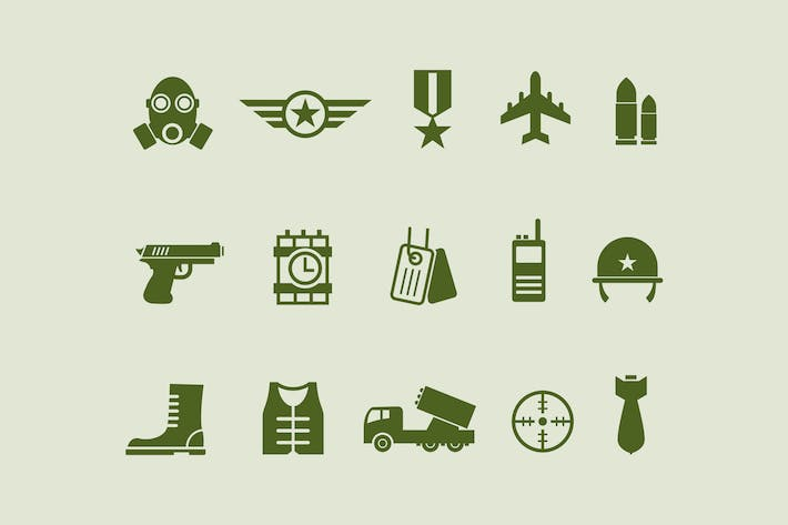 Thumbnail for 15 Army and Military Icons