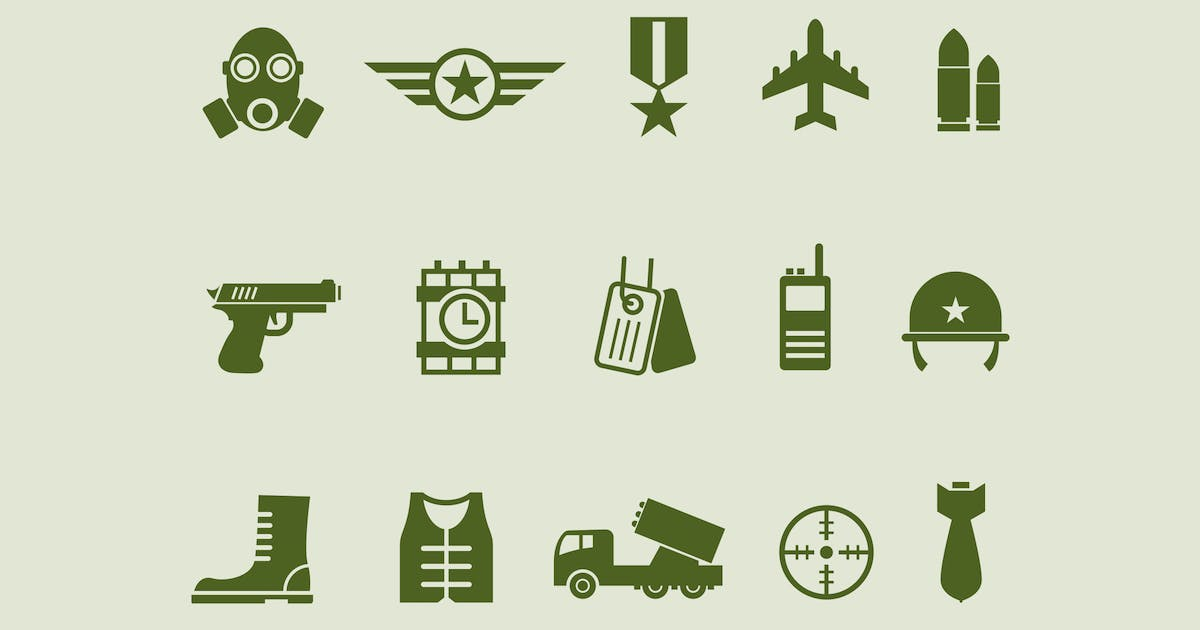 Download 15 Army and Military Icons by Unknow