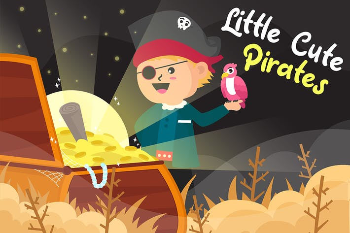 Thumbnail for Little Cute Pirates - Vector Illustration