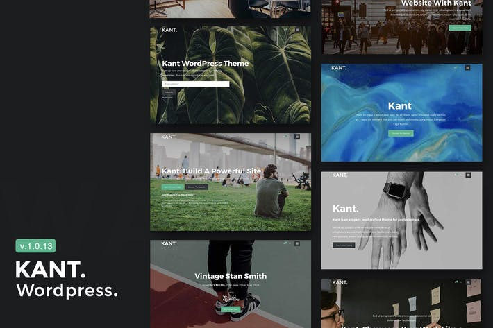 Thumbnail for Kant - A Multipurpose WordPress Theme for Startups