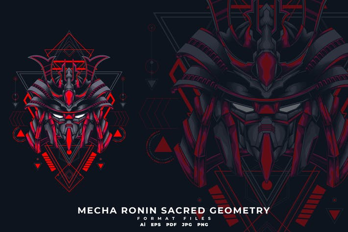 Cover Image For Mecha Ronin Sacred Geometry