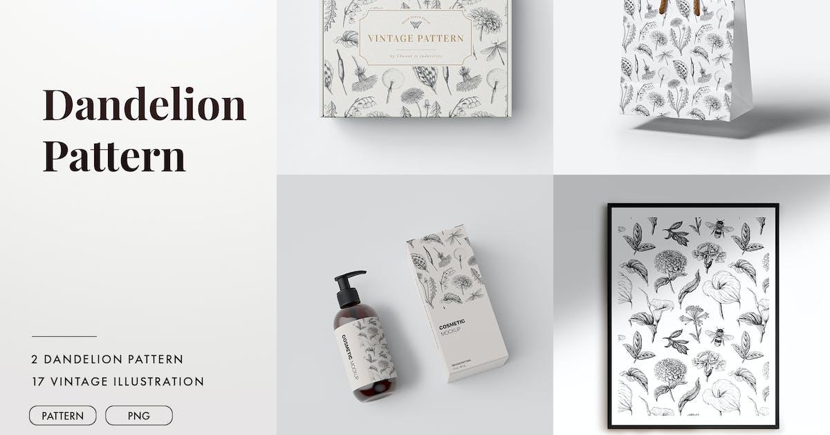Download Dandelion vintage illustration and pattern by Chanut_industries