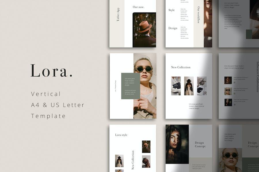 LORA - Вертикальный Шаблон Powerpoint