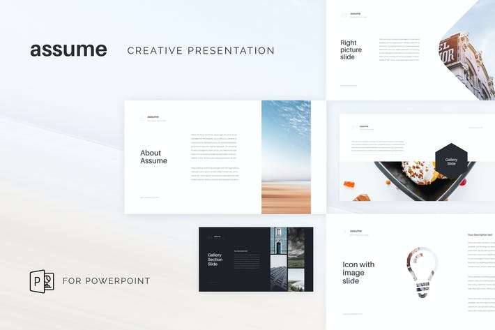 Thumbnail for Assume Creative PowerPoint Template