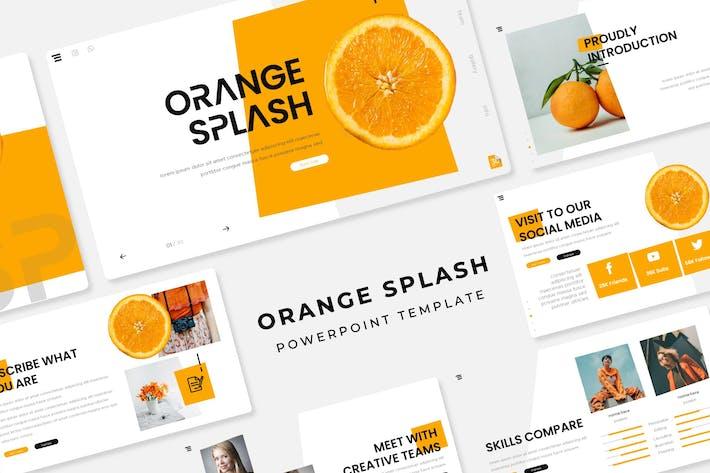 Thumbnail for Orange Splash - PowerPoint Template