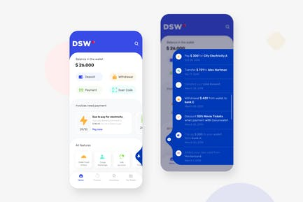 Interface utilisateur mobile DaSunWallet - N