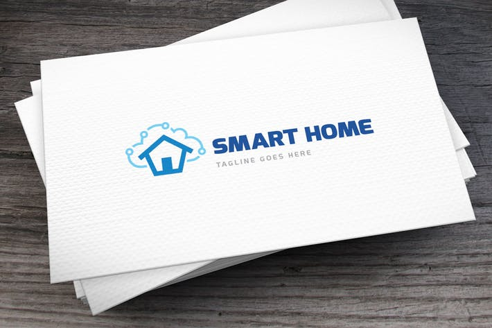 Thumbnail for Smart Home Logo Template