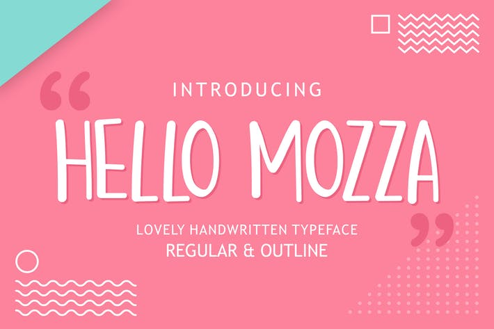 Thumbnail for Hello Mozza - Display Font
