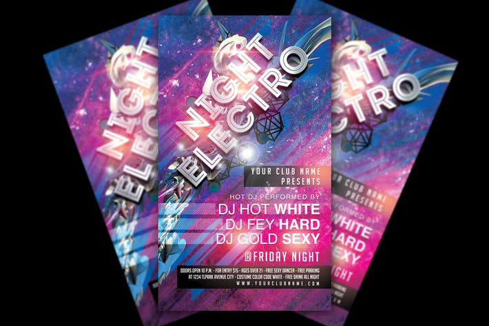 Thumbnail for Electro Night Party Flyer