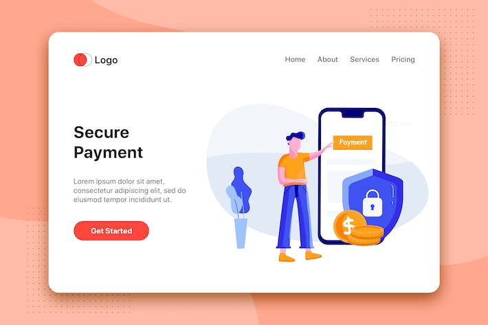 Thumbnail for Secure payment - Online Banking app concept