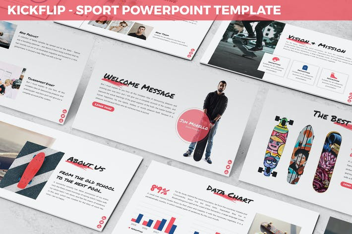 Thumbnail for Kickflip - Sport Powerpoint Template