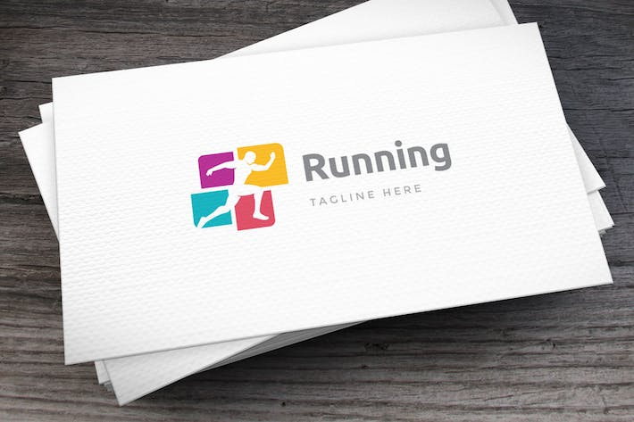 Cover Image For Fit Running Logo Template