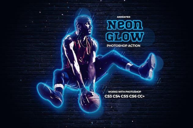 Neon Glow Photoshop Action