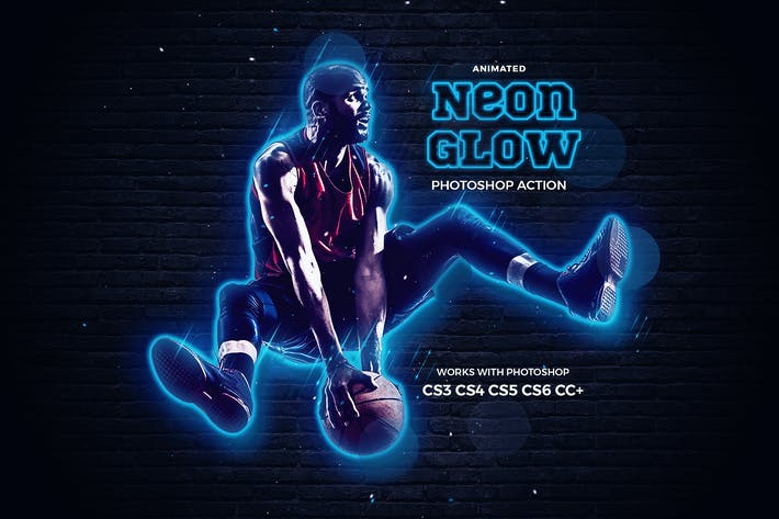 Thumbnail for Neon Glow Photoshop Action