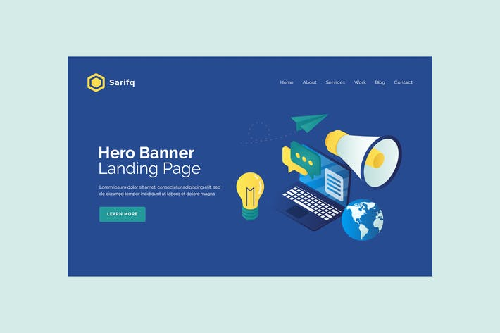 Thumbnail for Sarifq - Hero Banner Template