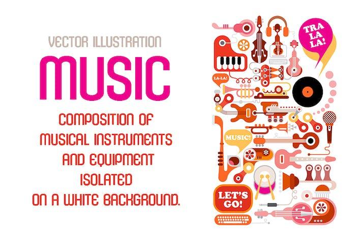 Thumbnail for Music Vector Illustration