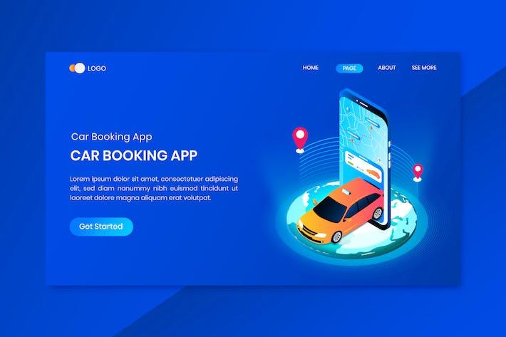 Car Rental Booking App Concept Landing Page