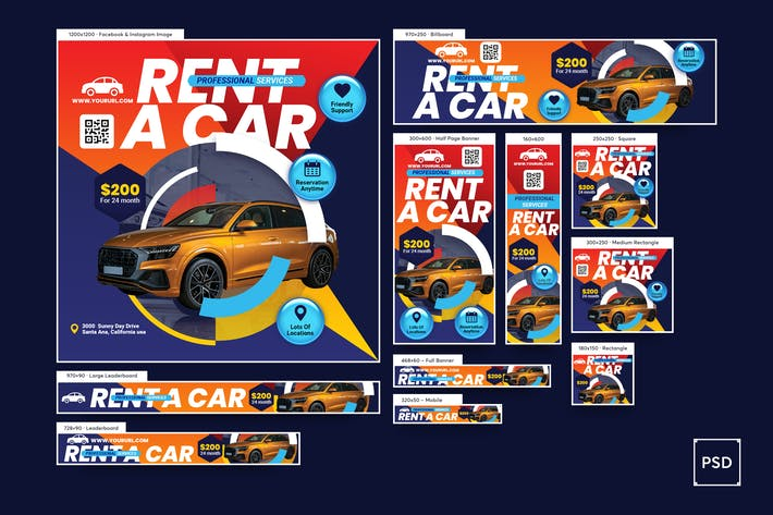 Thumbnail for Rent a Car Banners Ad