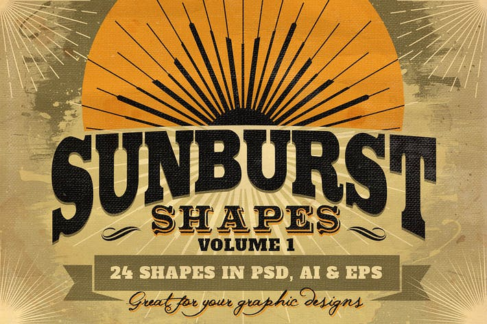 Thumbnail for Sunbursts Shapes Vol.1