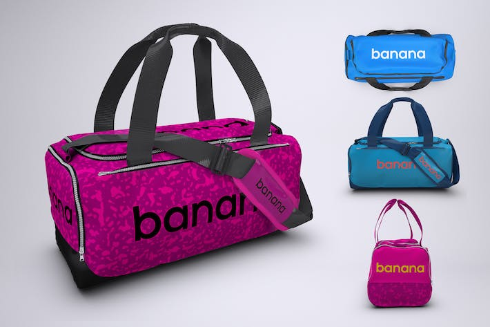 Thumbnail for Sports Bag or Gym Duffel Bag Mock-Up