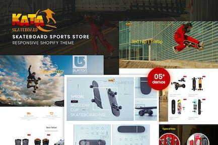 Kata | Skateboard Sports Store Shopify Theme