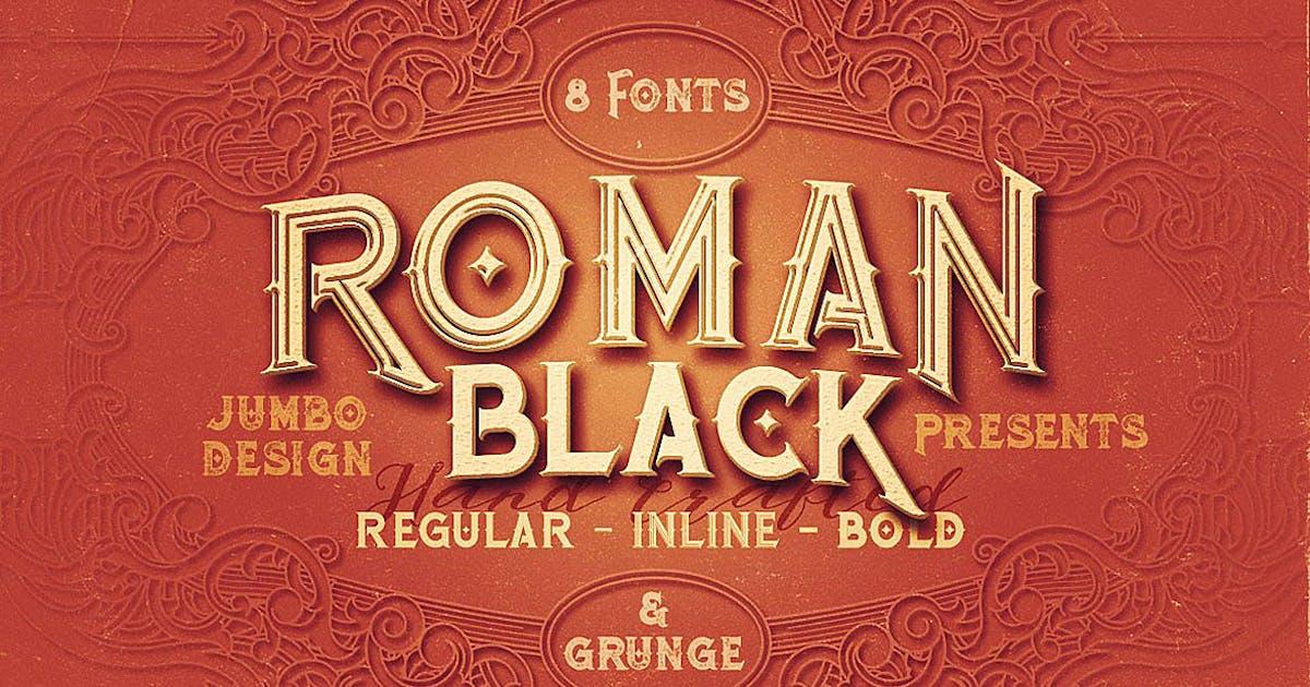 Download Roman Black - 8 Display Fonts by cruzine