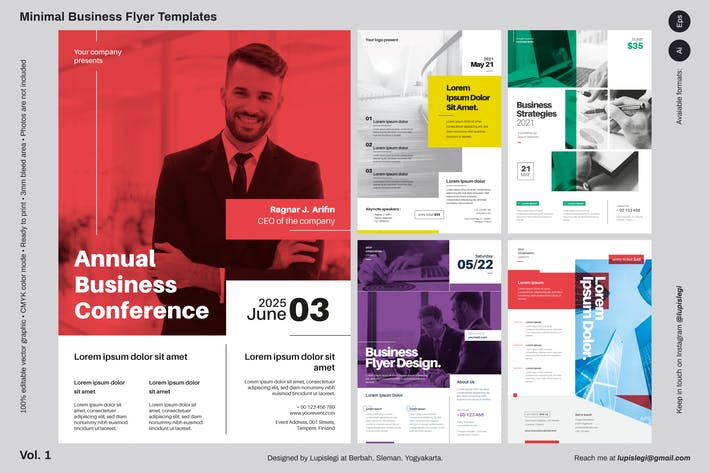 Thumbnail for Minimal Business Flyer Templates