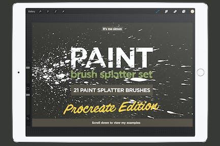 Procreate paint splatter brush set