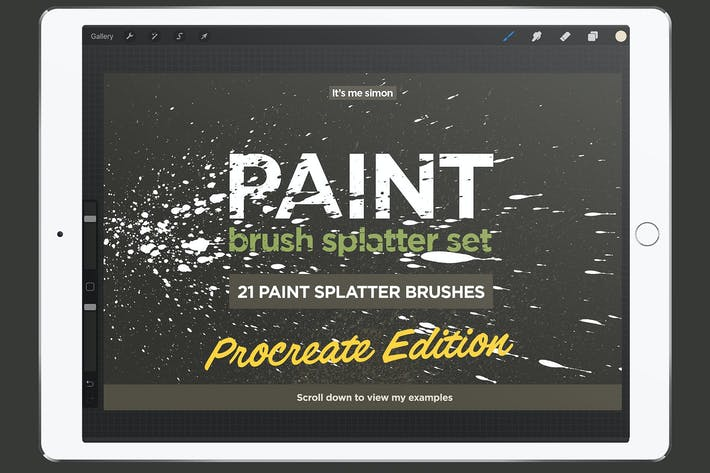 Thumbnail for Procreate paint splatter brush set