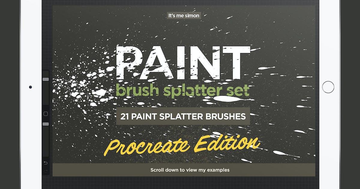 Download Procreate paint splatter brush set by simonok