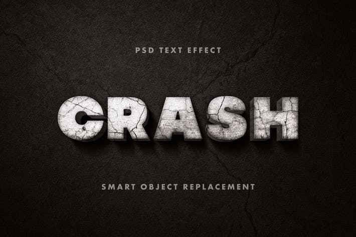 Thumbnail for Crashed Text Effect