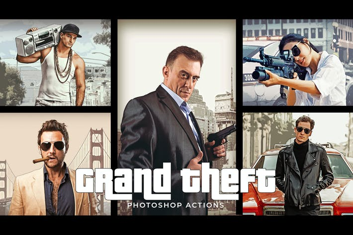 Thumbnail for Grand Theft Photoshop Actions