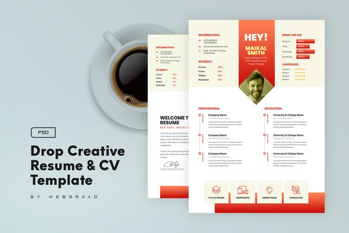 Thumbnail for Drop | Creative Resume & CV Template