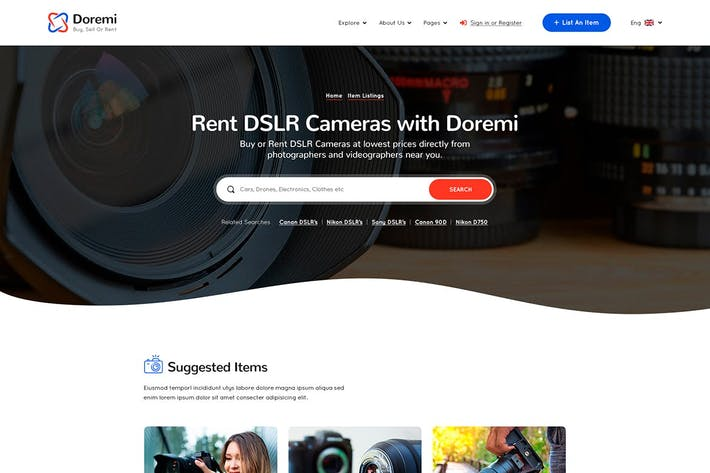 Doremi - Rent Anything HTML Template